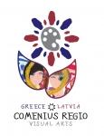 """Comenius Regio projekts """"Radošums, vizuālā māksla un starpkultūru izglītība, balstoties uz vietējās mākslas krātuvēm"""" (līgums nr. 2013-1-GR1-COM13-15123 2)"""